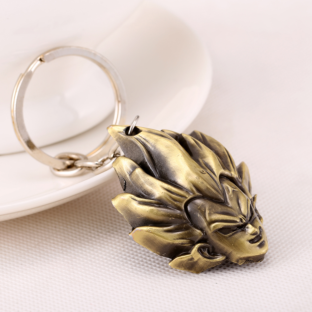 MS JEWELS Anime Cartoon Gifts Jewelry Dragon Ball Vegeta Keychain Metal Key Rings Chaveiro Key Chain