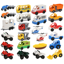 Large Particles Building Blocks Accessories DIY Vehicle Bricks Car Fire Truck Toys For Children Gift цены