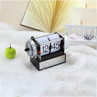 Home Decor Novelty Gear Watch Table Clock Flip Down Clocks Vintage Alarm Mechanical Retro Watch Modern Relogio De Mesa