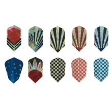 Laser 2D Metal Dart Slim Flights V-Shap Tail Leaves Harrows Throwing Toy Accessories Dart Gift Professional 10 sets 30 pcs