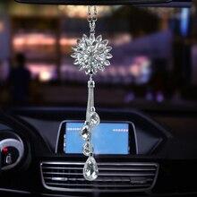 Автомобильный кулон, Хрустальные лепестки цветов, подвески, авто зеркало заднего вида, висячие украшения, Автомобильный интерьер, подвеска, украшение, подарки