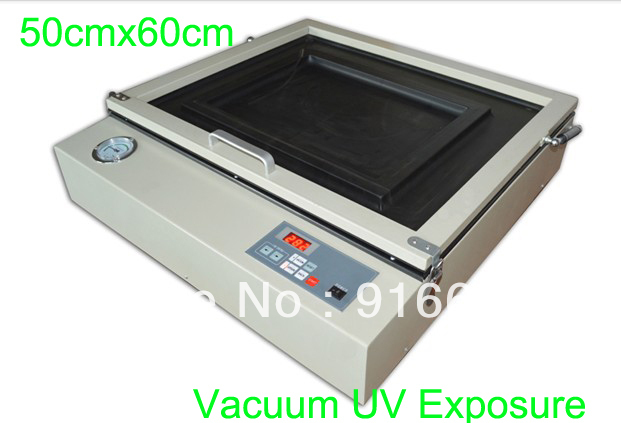 FAST Free shipping 50cmx60cm (20x24) Screen plate vacuum exposure machine screen printing UV exposure unit equipment promotion 6pcs baby 100