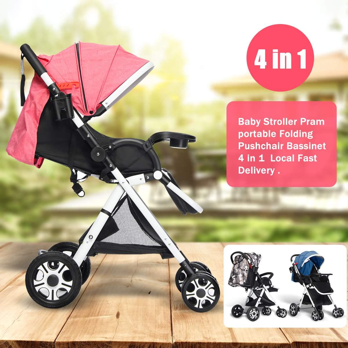 4 couleurs 2019 nouveau 4 en 1 réglable bébé poussette poussette pliable Buggy léger survêtement voyage