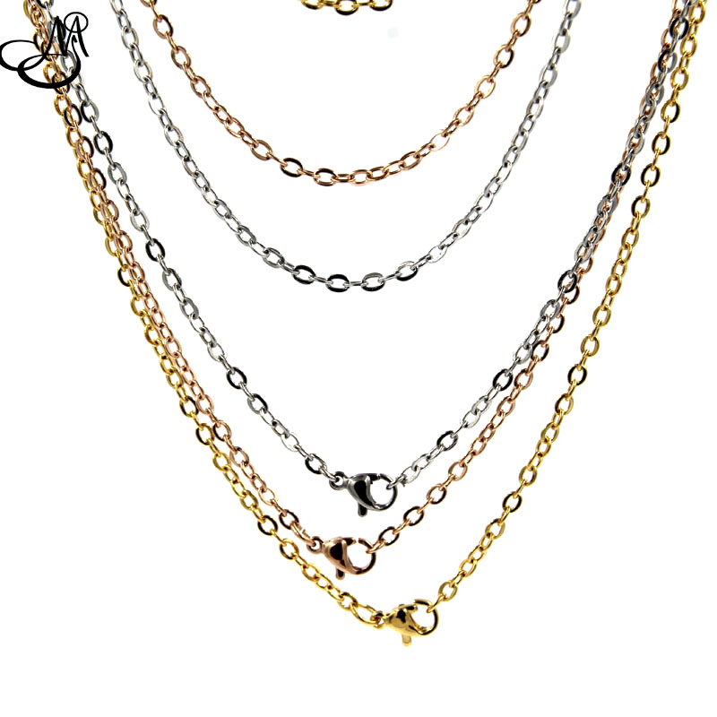 Fashion design 20'' stainless steel cable chain necklace ...