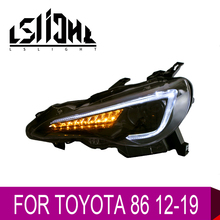 LSlight For TOYOTA 86 2012 2013 2014 2015 2016 2017 2018 2019 LED Headlight Assembly Bulbs LAMP Light Stop Brake Turn Signal DRL for lifan 320 2007 2012 headlight assembly lamp assembly front headlamps with turn signal 1pcs