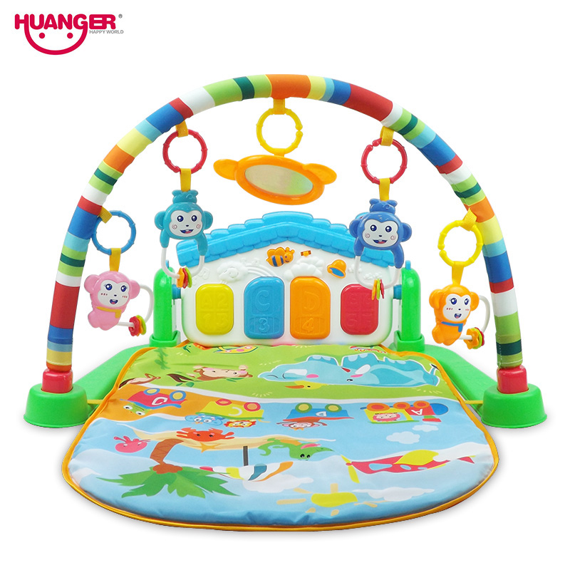 Huanger Baby 3 in 1 Play Rug Develop Crawling Children s Music Mat with Keyboard Infant