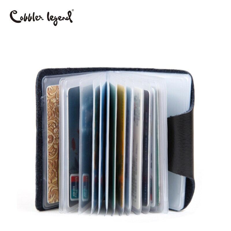 Cobbler Legend 26 Slots Genuine Leather Business Credit Card Holder Men's Wallets