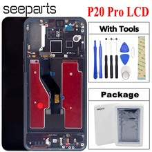 Pantalla LCD TFT para Huawei P20 Pro, Digitalizador de Panel táctil, P20 Pro, CLT AL01, pantalla táctil