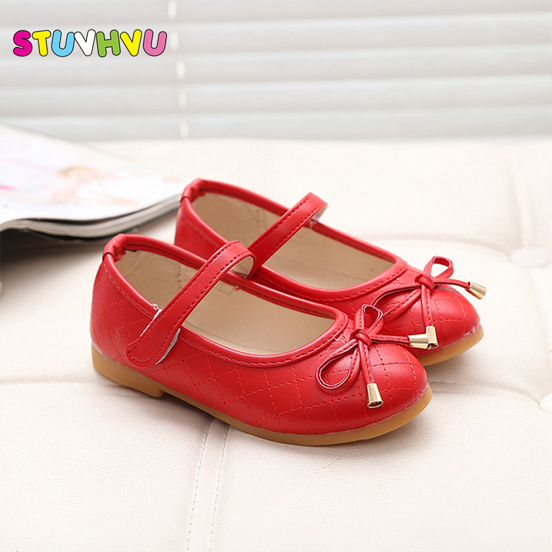 Party Girls Shoes New Fashion 2019 Baby Children Kids Girl Princess Leather Red Shoe Spring Autumn Size 21~36 Over 2 Years Old