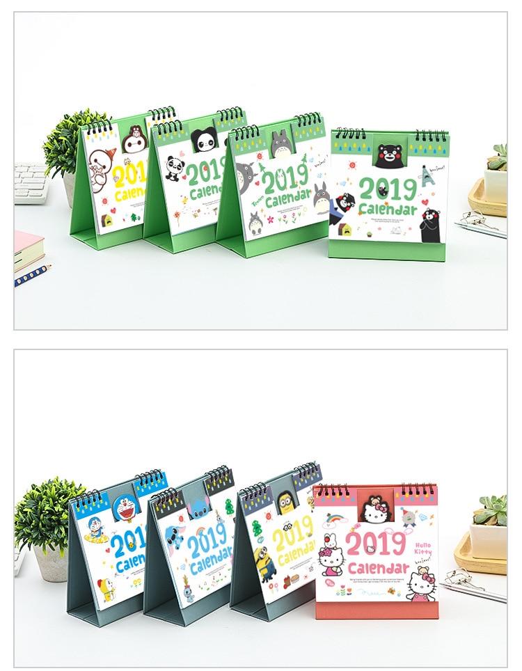Schöne Neue 2019 Kalender Cartoon Zeichen Desktop Papier Kalender Dual Täglichen Scheduler Tisch Planer Jährlich Agenda Organizer Kalender Office & School Supplies