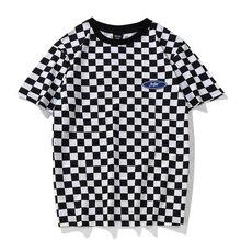 IUURANUS Fashion Plaid T Shirts 2018 New Men Women Streetwear Casual Top Tees T Shirts Summer