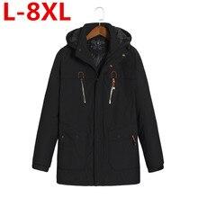 Фотография 2017 new Plus size 8XL 7XL 6XL 5XL Thick Down & Parka coat Warm Winter Jacket Men waterproof windproof chaquetas hombre big size