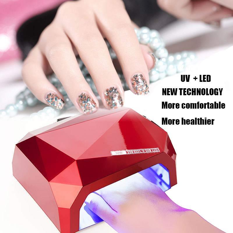 Автоматическая светодиодная УФ-лампа для ногтей sensorSUN6, 36 Вт, без спирального света, светодиодная Сушилка для ногтей, все инструменты для диз...