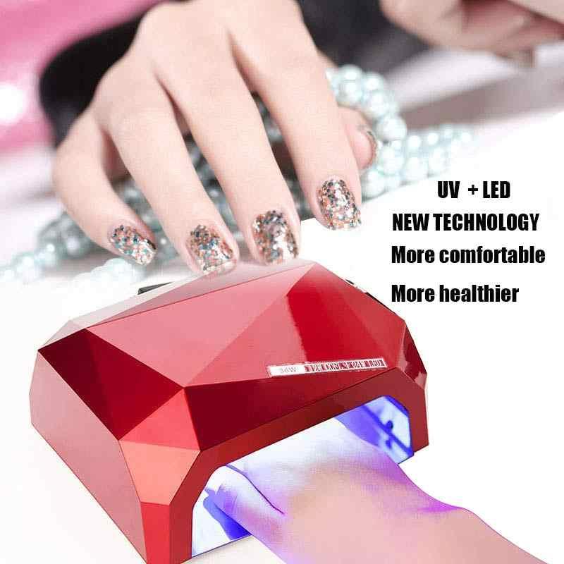 La nuova Tecnologia Automatica del sensore 36 W UV Lampada Del Chiodo Del Led può Asciugacapelli tutti i gel Polish Macchina Unghie artistiche Strumenti