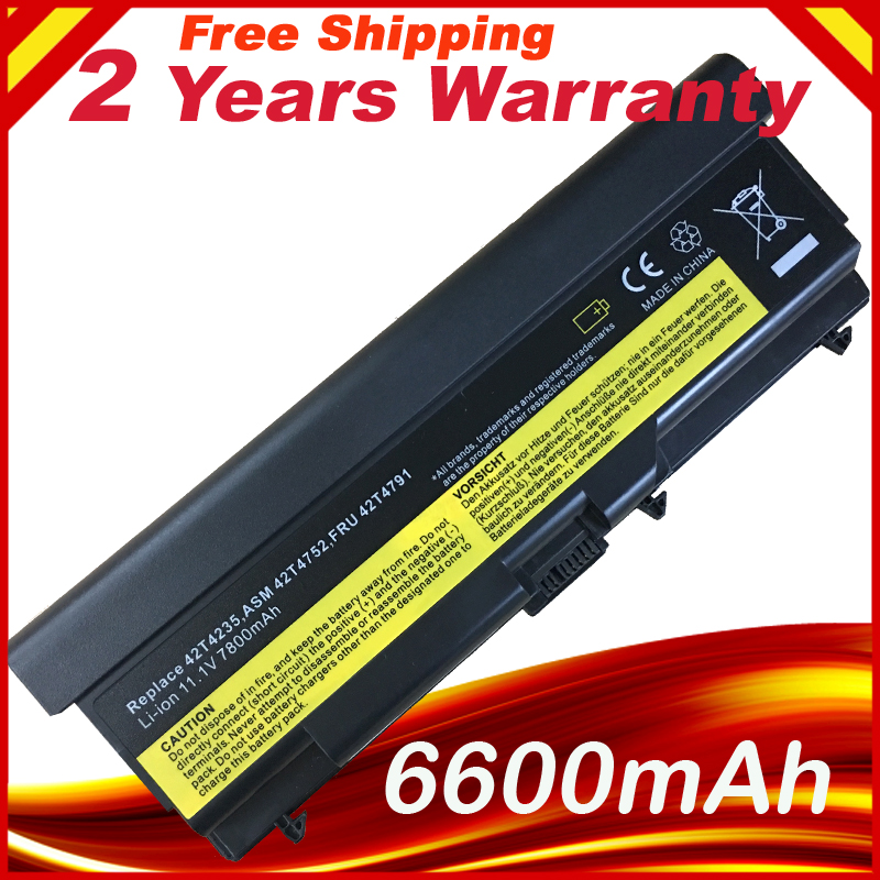 7800mAh Laptop Battery For Lenovo ThinkPad T410 T410i T420 T510 T510i T520 T520i SL510 9cell цена