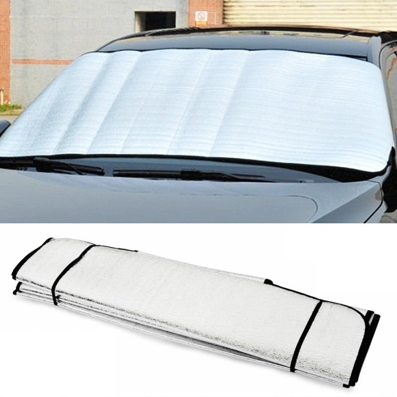 LEEPEE UV Protect Car Styling Front Window Sunshade Windshield Film Foldable Car Windshield Sun Shade