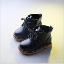 Hot selling !!!2017Winter super-fibre leather shoes male female child  cotton boots knee-high martin boots