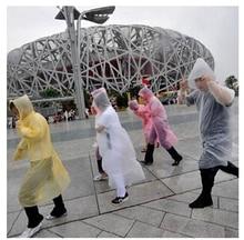 1 pcs Disposable Raincoat Adult Emergency Waterproof Hood Poncho Travel Camping Must Rain Coat Unisex(China)
