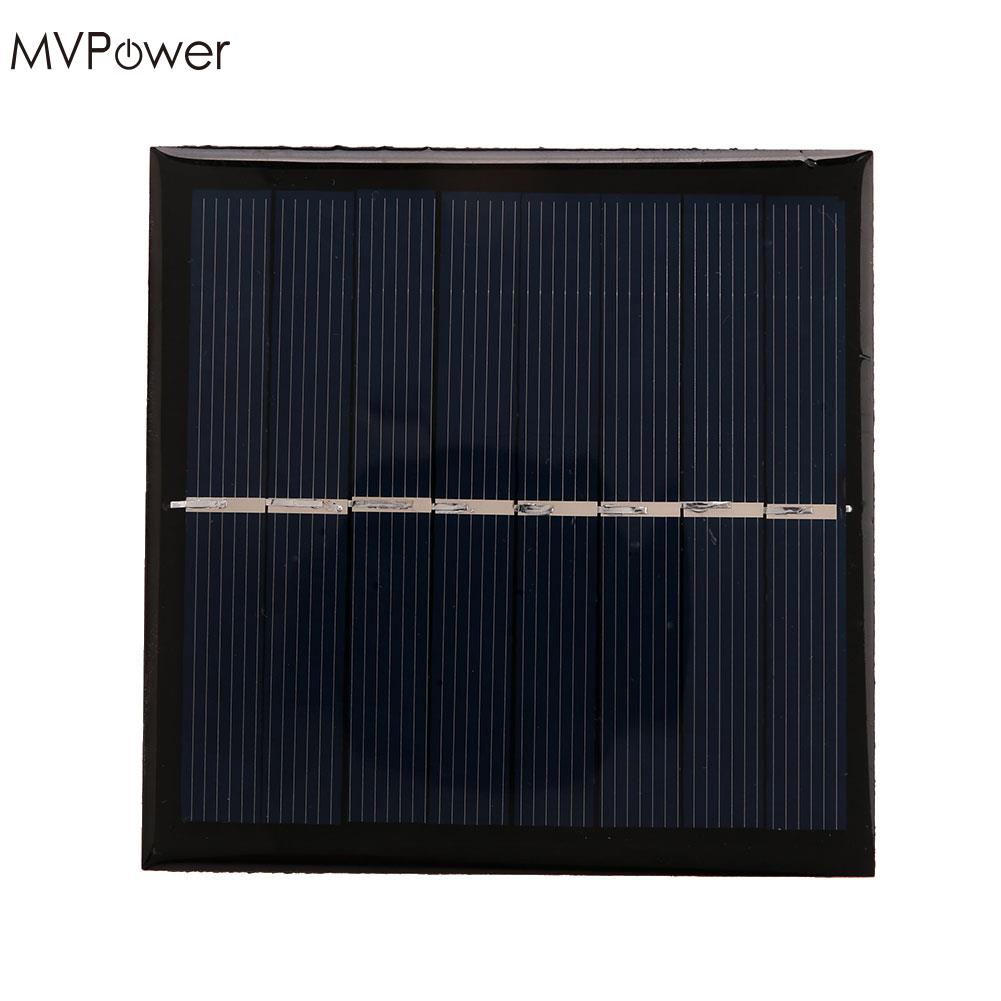 MVPower 1W 4V Solar Panel Charger Board Power Bank Pack Silicon Black Portable New