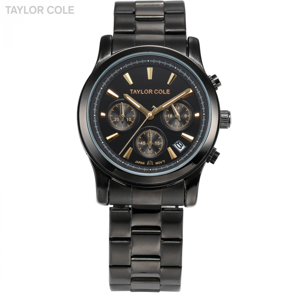 Taylor Cole Muse Montre Femme Marque De Luxe 2017 Auto Date Full Steel Strap Lady Quartz Clock Fashion Quartz Watches / TC008 taylor cole relogio tc013