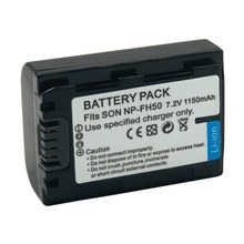 NP FH50 FH60 FH70  1150mAh Rechargeable Digital Battery for Sony Camera Alpha DSLR A230 A290 A330 A380 A390 DVD103 DVD105
