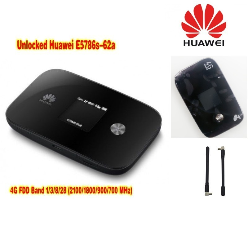 LTE router cat6 300Mbps unlocked Huawei E5786 e5786s-62a 4g lte MiF router 4g wifi dongle plus with a pair antenna original huawei 4g lte 4g tdd 2300 pocket portable wifi e5372s 4g wireless router plus a pair of antenna