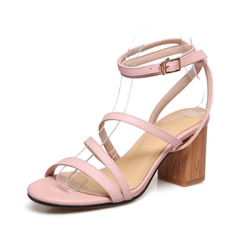 6493e440a3dc94 Bal Morazora Talons Sandales Boucle 2019 Hauts rose En De Pour Chaussures  Dames Qualité Véritable Femme ...