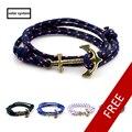 Multilayer Miansai Immanuel Anchor Bracelet Retro Tom Hope Bracelet Navy Hand Leather Trendy Gentleman Bracelets for Woman & Man