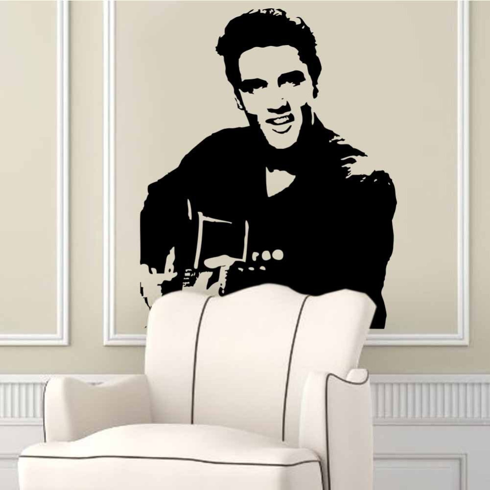 Rock music elvis presley vinyl decoration home wall stickers rock music elvis presley vinyl decoration home wall stickers celebrity wall decals elvis home decor sofa background freeshipping in wall stickers from home amipublicfo Image collections