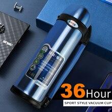 PINKAH Vuoto Thermos Thermos In Acciaio Inox 0.8L 1L Big Size Outdoor Sport Thermos Tazza di Corsa Bottiglia di Acqua Potabile Termico
