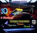 2015 Hot Vender Cheerson 6050 RC Rádio Controle Remoto Brinquedos de Helicóptero 6 Canais 3D Dublê Rei 2.4 GHz Com 3-Axis Gyro 6CH 450 pro