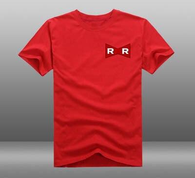 New Dragon Ball Z  t-shirt  Red Ribbon Army LOGO Anime Cartoon men t shirt summer cotton Tees Tops