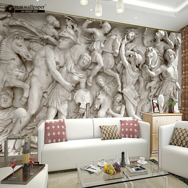 Great wall 3d wall wallpaper murals for living room photo for Wall papers for rooms