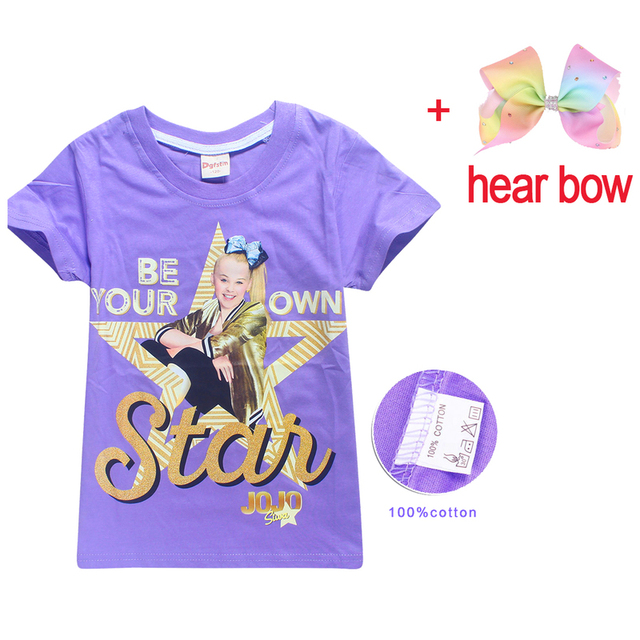 100 Cotton T Shirts For Children 2018 Summer Jojo Siwa