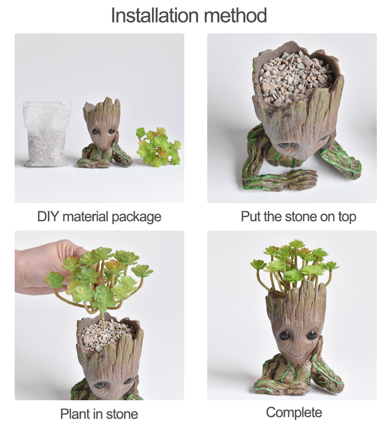 Baby Groot Flower Pot Suitable for Living Room Bed Room and study Room for Full Greenery in House 21