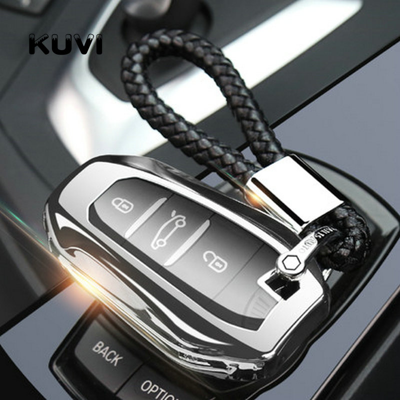 New Tpu Car Key Case Cover Keyless Fob Shell Skin For 2018 2019 Peugeot 208 308 508 for Citroen C4 Picasso DS3 DS4 DS5 DS6