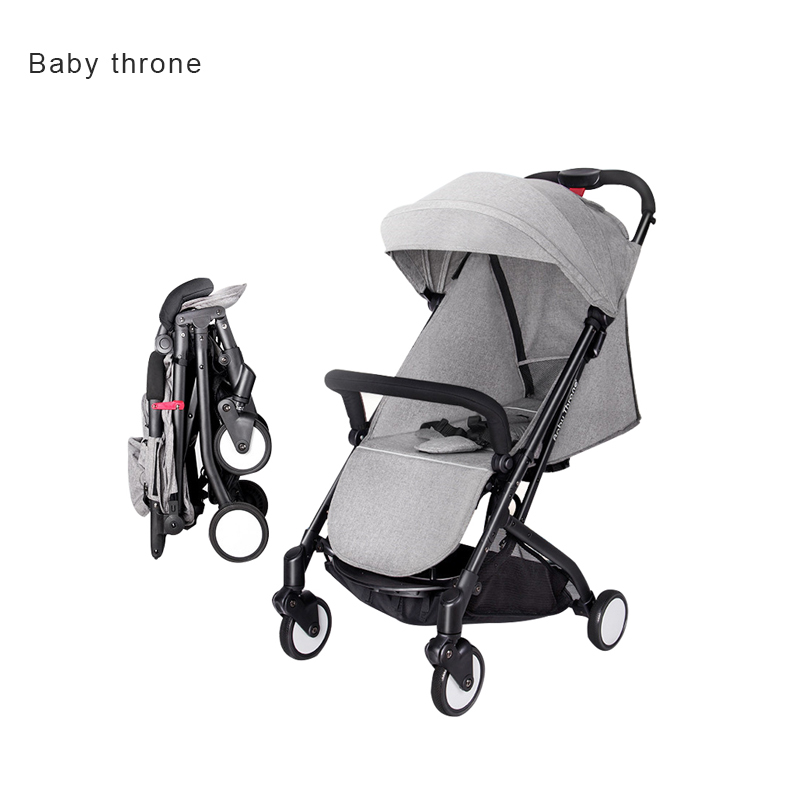 5.8kg Super Light Babythrone Baby Stroller Portable Can Sit And Lie Down Folding Car 8 Colors 7 Free Gifts High Quality newborn baby stroller european high view baby car can sit and lie super light folding umbrella caets can be on plane baby car
