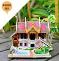 Robotime wooden 3D building model toy gift puzzle southeast Asia style house home Malaysia Thailand Singapore Bali Island 1pc
