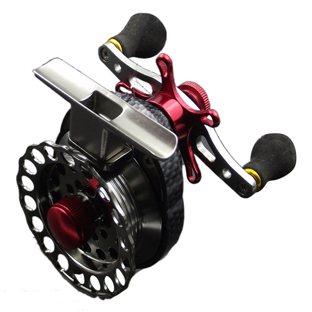 Left/Right hand front end raft fly fishing reel Micro-round lead raft fishing reel for fishing peche carretilha para pesca Right
