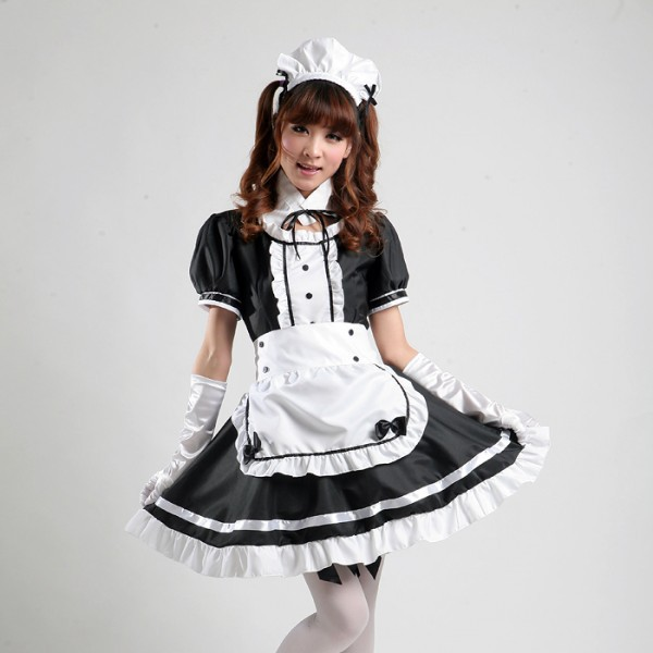 Maid costume role-playing cartoon cosplay maid outfit Comic Costumes French Maid cosplay girl lolita dress uniform