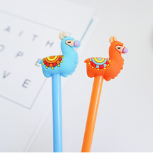 2 pcs/lot Cartoon camel Gel Pen kawaii stationery School Supplies Office Cute writting pens paperlaria
