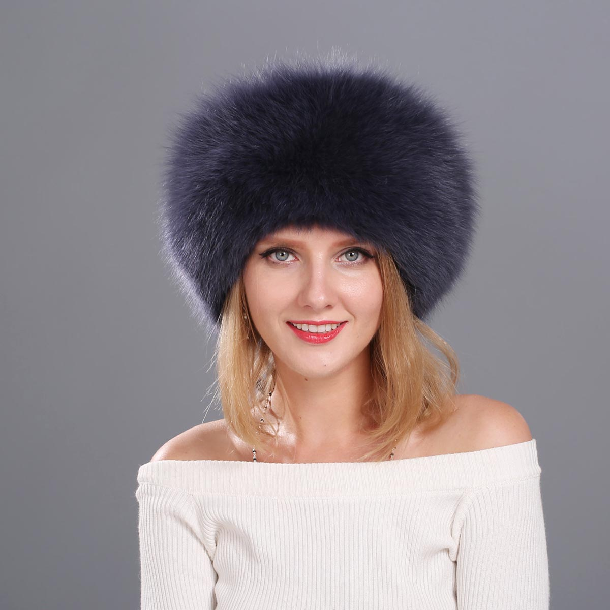 все цены на  Natural Fox Fur Cap for Women Beanies Russian Winter Fur Hat with Tail 100% Real Fox Fur Hat Black White Silver Fox  в интернете