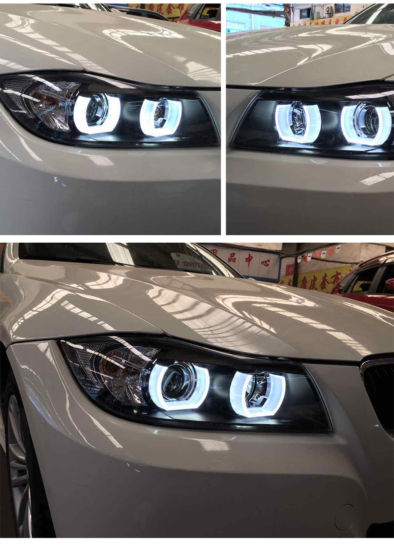 2006 Bmw 325i Headlights : headlights, Headlights, Headlamp, Headlight, Angel, Front, Light, Xenon, HID|headlights, For|led, Eyescar, AliExpress