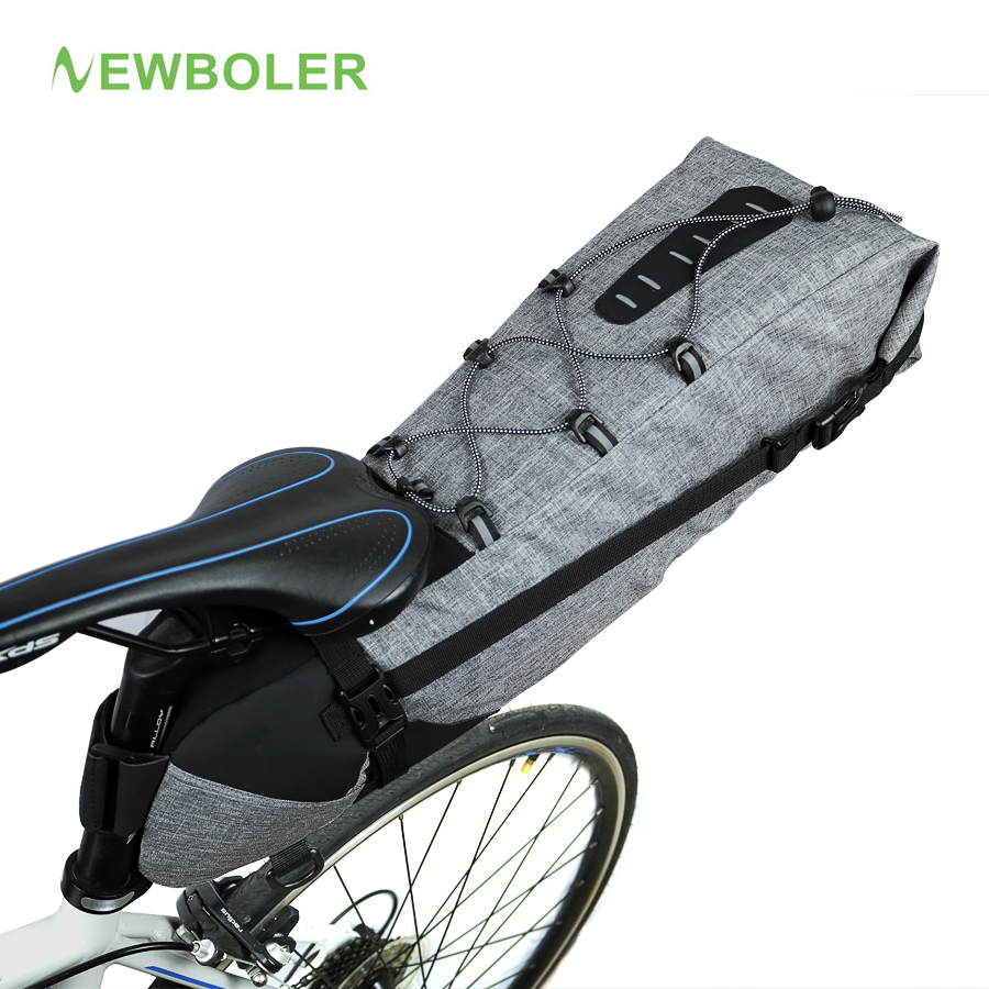 NEWBOLER 100% Waterproof Bicycle Saddle Bag Large Bike Tail Seat Bags TPU + Polyester Cycling Rear Panniers Bike Accessories 12L rockbros mtb road bike bag high capacity waterproof bicycle bag cycling rear seat saddle bag bike accessories bolsa bicicleta