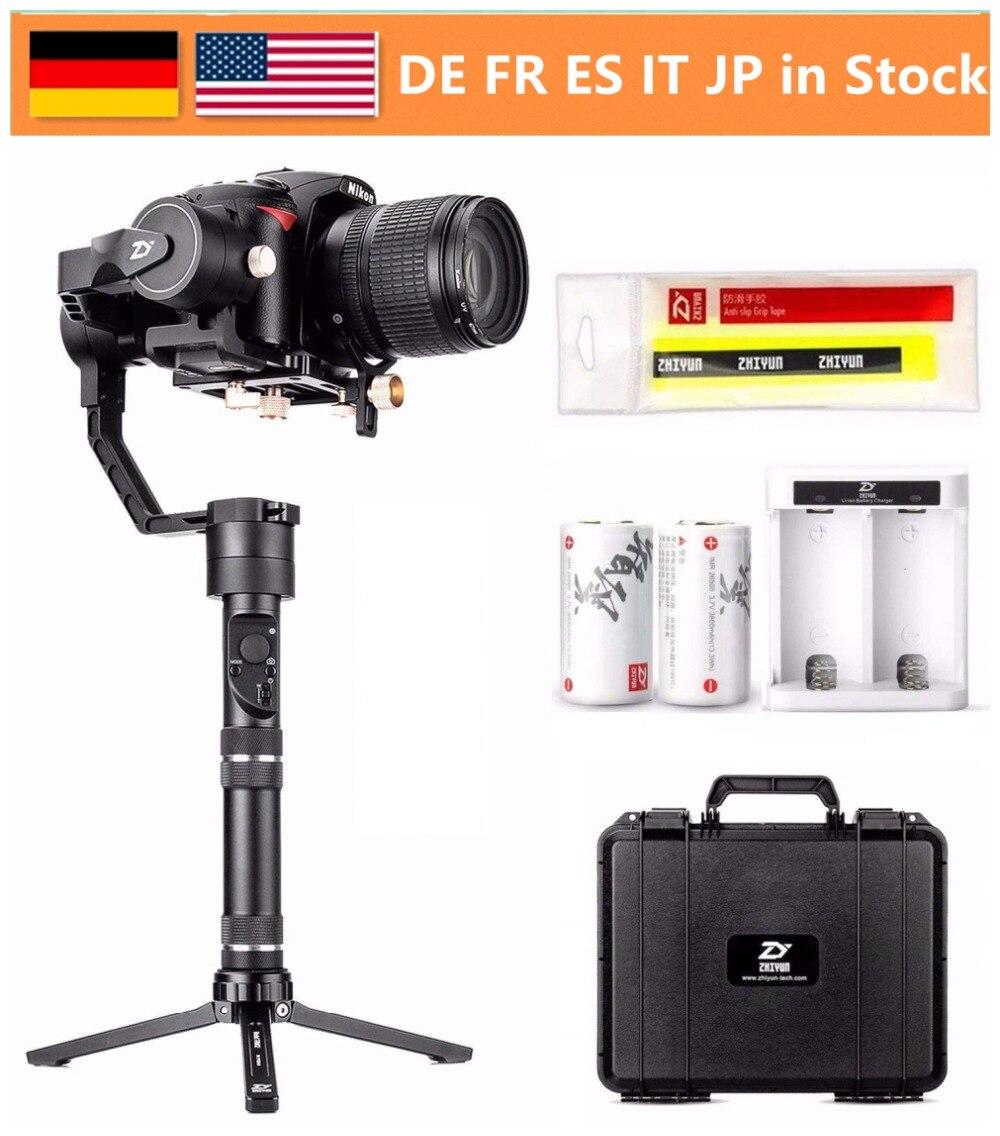 EU Estoque Guindaste Mais 3-Eixo Cardan Handheld Estabilizador para DSLR Camera Mirrorless com Carga Máxima 2.5 KG