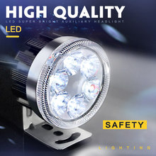 200M Motorcycle Super Bright LED Headlight Offroad Motorbike Scooter Motocross 12v-80v Strobe LED Signal Lamp Front Light(China)