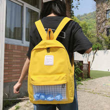 Casual Clear Waterproof Womens Backpack Harajuku Nylon Travel Cute Small Duck Student Schoolbags Girls Bookbags Daypack