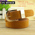 2017 Fashion ladies' belt strap , jeans belt strap decoration casual pin buckle all-match 3cm wide Nubuck  leather belt