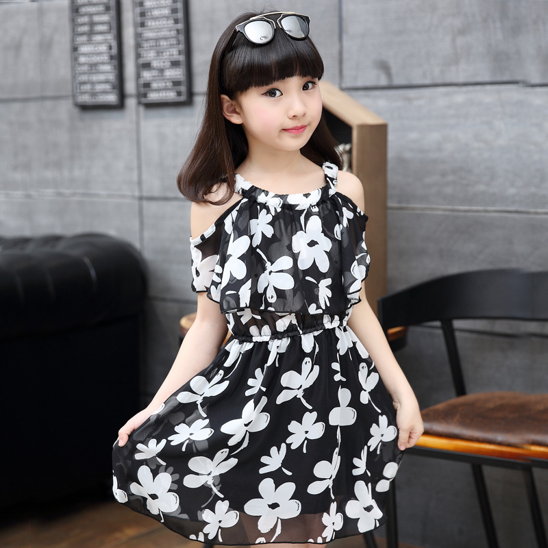 4a3b34027 Kids Clothing Beach Dresses for Girls Summer Style Girl Dress Floral ...