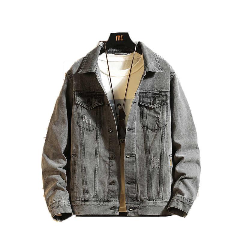 春のジャケットの男性 2019 デニムジャケットメンズボンバージャケット男性高品質の男性ヴィンテージジャンジャケットストリートやつ 5XL
